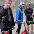gerissene Fahrrad-Kette