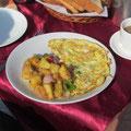 das Masala-Omelett gibt Kraft