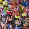 Blumen verkaufen macht Spaß