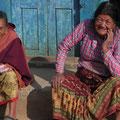 alte Frauen freuen sich