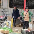 Händler im Dorf