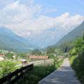 schöner Radweg von Sterzing zum Brenner