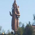 33m hohe Shiva-Statue in der Ferne