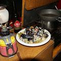 zur Feier des Tages gibt es Muschelvergiftung :)