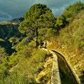 acequia en la Sierra de Tejeda sobre el Río Chillar