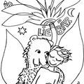 LieBär   Ausmal-Postkarte