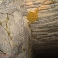 Infiltration mineure d'argile. Inspection des carrières par le B.R.G.M., accompagné du G.R.I.M.P. à Cénac