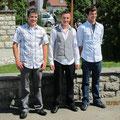 Die Jungmannschaft Thomas, Simon und Christian