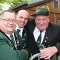 Drei freudige Schützen