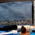 """""""Jeanstäschle blau-schwarz"""", 32 x 23cm mit 4 Innentaschen"""