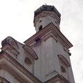 Achteckiger Turm mit Zwiebeldach