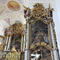 Rechter Seitenaltar Hl. Augustinus mit Reliquienschrein des Hl. Märtyrers Leander