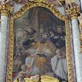 Altargemälde mit Hl. Augustinus umgeben von anderen Heiligen