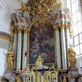 """Hochaltargemälde """"Martyrium der Hl. Ursula"""""""