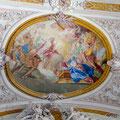 Christus entsteigt dem Grab und erscheint seiner Mutter, Adam, Eva, Noah und David