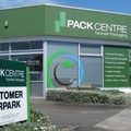 The Pack Centre, vinyl, window etch