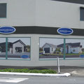 Window graphics, Platinum Homes. New Plymouth.