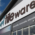 Profile cut lettering @ Tile Warehouse 2012 rebrand