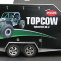 TopCow trailer, wrapped in black with digital prints