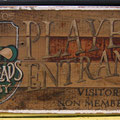 Retro faux antique sign,- Players entrance
