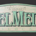 "Custom made ""MelMel's"" sign"