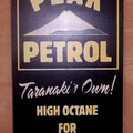 Retro faux antique sign,- old Peak Petrol sign