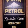 Retro faux antique sign,- old Peak Petrol sign