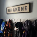Ohakune sign - custom made for a much loved holiday home!