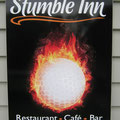 stumble Inn,sponsored hole tee sign, Westown Golf Course