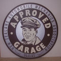 Retro faux antique sign,- Approved Garage