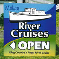 Mokau river cruises. Painted on ply with clear coat.