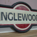 Retro faux antique sign,- Inglewood Train Station