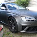 Full body wrap Audi RS4 (before and after)