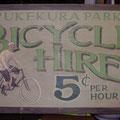 Retro faux antique sign,- Bicycle Hire
