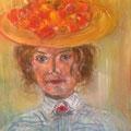 Dame mit Hut | Acryl auf Leinwand | 50 x 70 cm