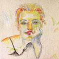 Nastassja | Kohle und Pastellkreiden auf Leinwand | 40 x 40 cm