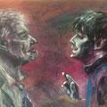 Schauspieler | Acryl auf Pappe | 70 x 50 cm