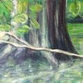 Würm | Acryl auf Pappe | 70 x 50 cm