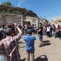 Gebet für Europa in den Ruinen von Troas