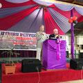 Bernd & Thomas bei einer Predigt
