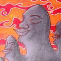 Coucher de soleil  -2005-  22x30cm