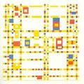 Broadway boogie-woogie, Piet Mondrian, 1942