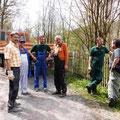 Arbeitseinsatz an der Elster zum Märchenwald in Wünschendorf
