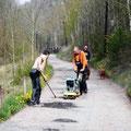 Der Weg zum bekannten Märchenwald in Wünschendorf an der Elster