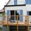 Terrasse aus Lärchenholz - unbehandelt
