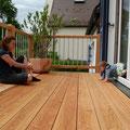 Terrassenbelag aus Lärchenholz - unbehandelt
