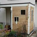 Vordach mit Rhombusleisten aus Lärchenholz - Holz geölt