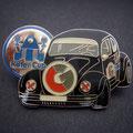 Käfer-Cup Pin schwarz