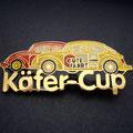Käfer-Cup Pin rot und gelb
