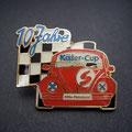 Käfer-Cup Pin rot 10 Jahre
